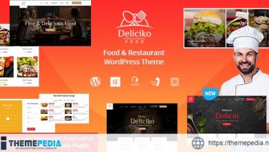 Deliciko – Restaurant WordPress Theme [Free download]