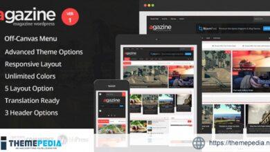 Agazine – Premium Retina Magazine WordPress Theme [Free download]