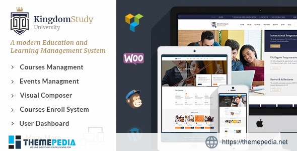 Kingdom Study – WP Learning Management System WordPress Theme [Updated Version]