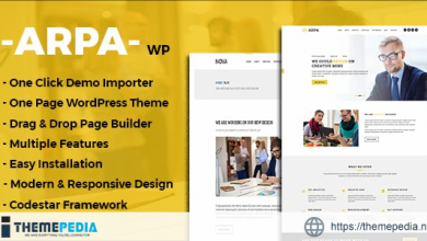 Arpa – One Page Business WordPress Theme [Free download]