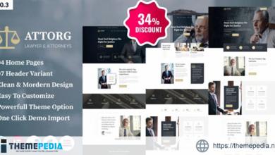Attorg – Attorney WordPress Theme [Free download]