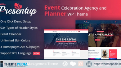 Presentup – Event Planner & Celebrations Management WordPress Theme [Free download]