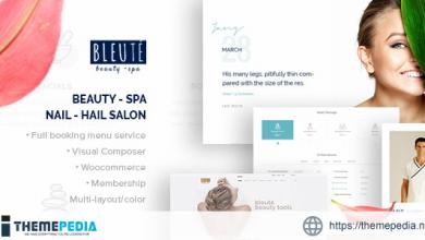 Bleute – WordPress theme Beauty Spa [Free download]