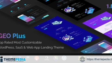 GEO Plus – WordPress SaaS & Web App Landing Page Theme [Free download]