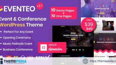 Eventeo – Event & Conference WordPress Theme [Free download]