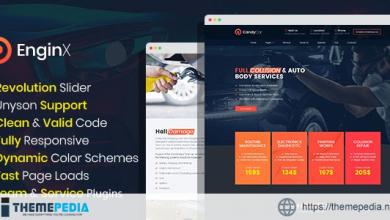 EnginX – Auto Repair Service WordPress Theme [Updated Version]