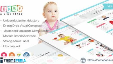 Baby & Kids Store eCommerce Woocommerce WordPress Theme [Free download]
