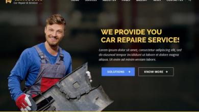 AutoPress – Car Repair & Services WordPress Theme [Free download]