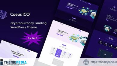Coeus – Cryptocurrency Landing Page WordPress Theme [Free download]