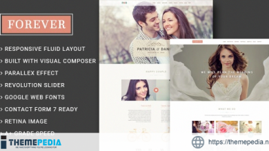 Forever – Wedding Couple & Planner- Agency WordPress Theme [Updated Version]