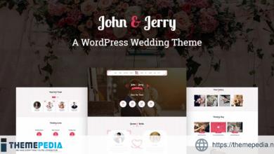 John & Jerry – A WordPress Wedding Theme [Free download]