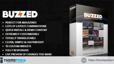 Buzzed Magazine Theme [Updated Version]
