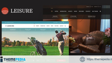Hotel Leisure WordPress Theme [Free download]