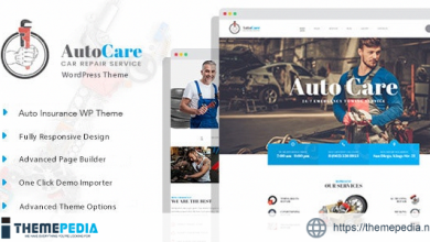 AutoCare – Auto Service WordPress Theme [Free download]