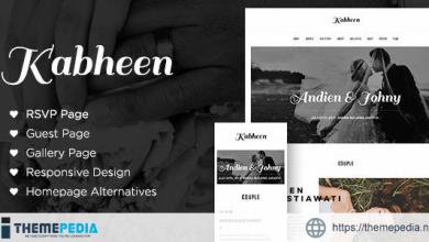 Kabheen – Modern Wedding WordPress Theme [Free download]