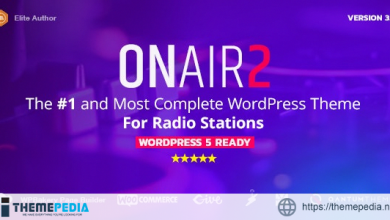 Onair2- Radio Station WordPress Theme With Non-Stop Music Player [Free download]