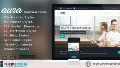 Aura – One Page & Multi Page WordPress Theme [Free download]