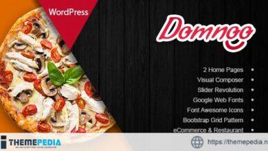 Domnoo – Pizza & Restaurant WordPress Theme [Free download]
