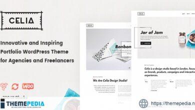 Celia – Innovative and Inspiring Portfolio WordPress Theme for Modern Agencies and Freelancers [Free download]
