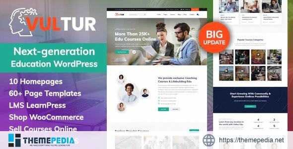Coach Online Courses & LMS Education WordPress – Vultur [Updated Version]