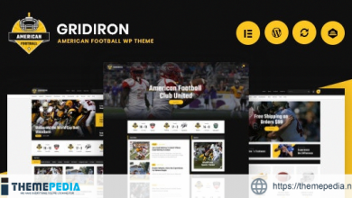 Gridiron – American Football & NFL Superbowl Team WordPress Theme [Free download]