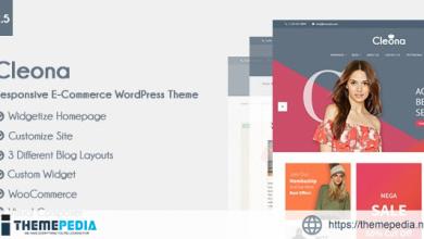 Cleona – Responsive E-Commerce WordPress Theme [Free download]