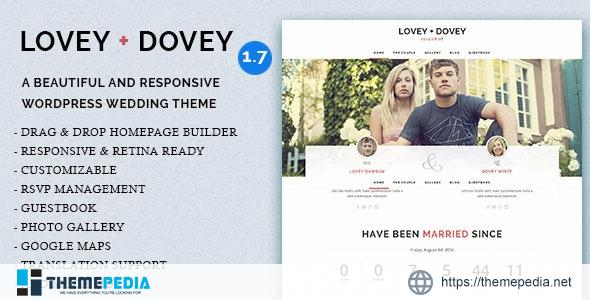 Lovey Dovey – Responsive WordPress Wedding Theme [Free download]