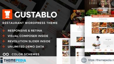 Gustablo – Restaurant & Cafe Responsive WordPress Theme [Free download]