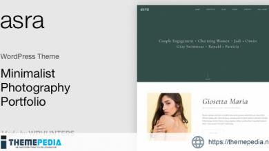 Asra – Minimalist Photography Portfolio WordPress Theme [Latest Version]