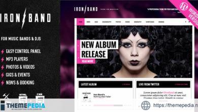IronBand – Music Band & DJ WordPress Theme [Free download]