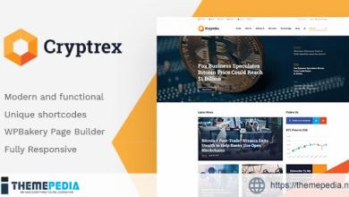 Cryptrex – Cryptocurrency & Mining WordPress Theme [Latest Version]