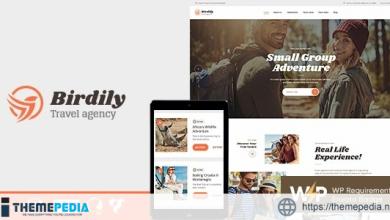 Birdily – Travel Agency & Tour Booking WordPress Theme [Free download]