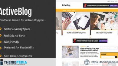 ActiveBlog – Stylish Personal WordPress Theme For Active Bloggers [Latest Version]