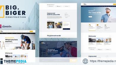 Bigger – Construction WordPress Theme [Free download]