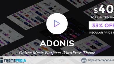 Adonis – Music Platform WordPress Theme [Free download]