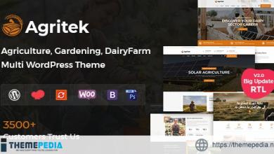 Agritek – Agriculture, Dairyfarm and Gardening WordPress Theme [Updated Version]