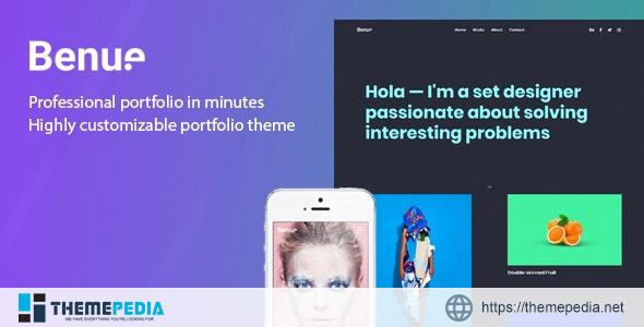 Benue – Creative Portfolio WordPress Theme [Free download]