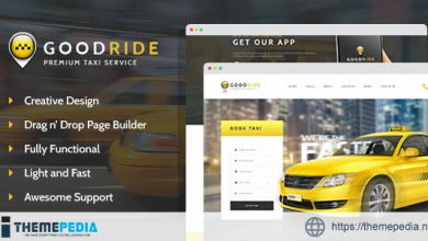 Good Ride – Taxi Company, Cab Service WordPress Theme [Free download]