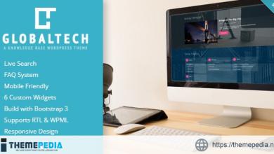 GlobalTech – Responsive Knowledge Base FAQ WordPress Theme [nulled]