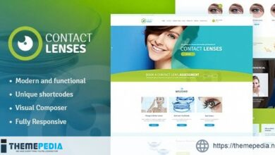 Contact Lenses Store & Vision Therapy Clinic Doctor WordPress Theme [Free download]
