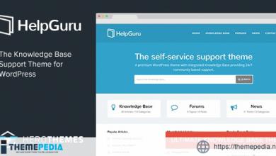 HelpGuru – A Self-Service Knowledge Base WordPress Theme [Free download]