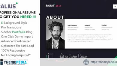 Balius – Resume and vCard WordPress Theme [Free download]