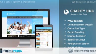 Charity Hub – Nonprofit – Fundraising WordPress [Free download]