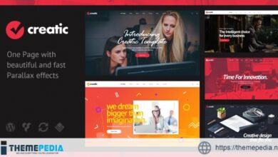 Creatic – One Page Parallax WordPress [Free download]