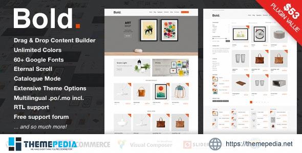 Bold. – A responsive WordPress & WooCommerce Theme [Latest Version]