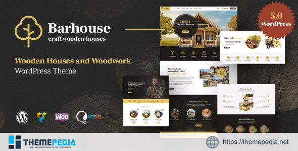 Barhouse – Wooden House Construction and Woodworks WordPress Theme [Free download]