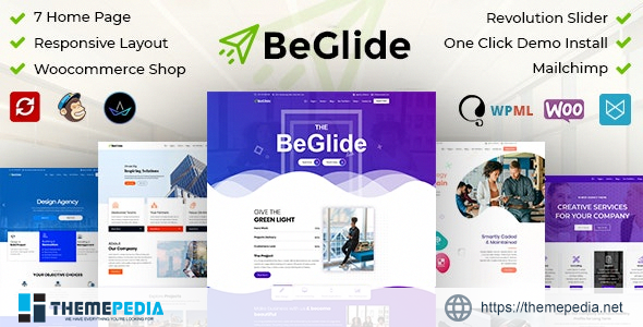 BeGlide- Corporate Business Consultant Agency WordPress Theme [Free download]