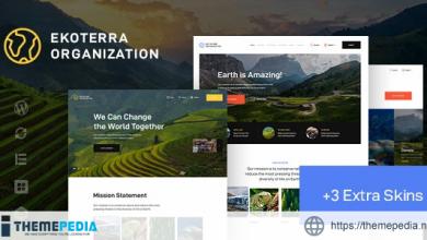 Ekoterra – NonProfit & Ecology WordPress Theme [Free download]
