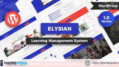 Elysian – WordPress School Theme + LMS [Free download]
