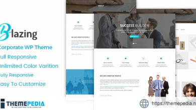 Blazing – Corporate WordPress Theme [Free download]